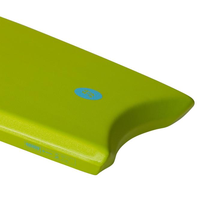 "BODYBOARD 100 (35"" ) vert avec semelle de glisse et leash"