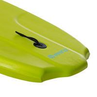 """BODYBOARD 100 (35"""") verde con suela de deslizamiento y correa"""