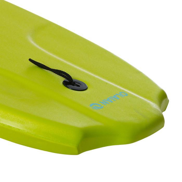 """Bodyboard 100 vert anis enfant 6-12 ans 35"""" avec semelle de glisse et leash"""