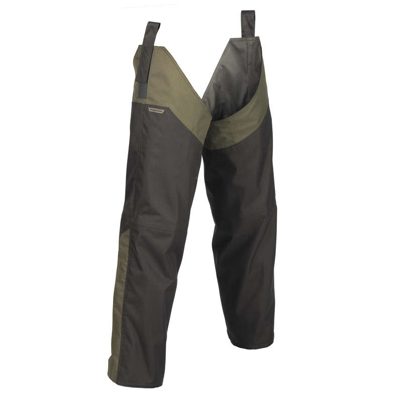 HUNTING CHAPS Shooting and Hunting - CHAPS 500 GREEN SOLOGNAC - Hunting and Shooting Clothing