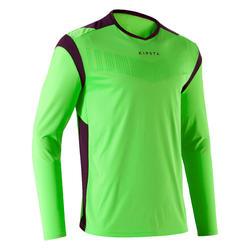 Camiseta de portero de fútbol F500 adulto verde