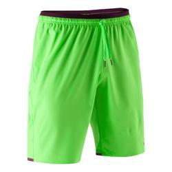 Pantalón corto de portero fútbol adulto F500 verde