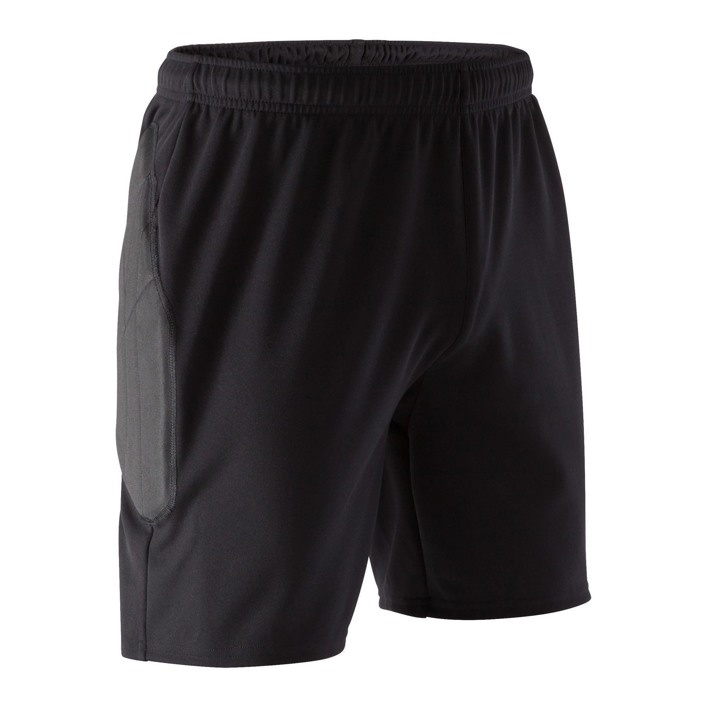 Kipsta Keepersbroek kort F100 volwassenen zwart