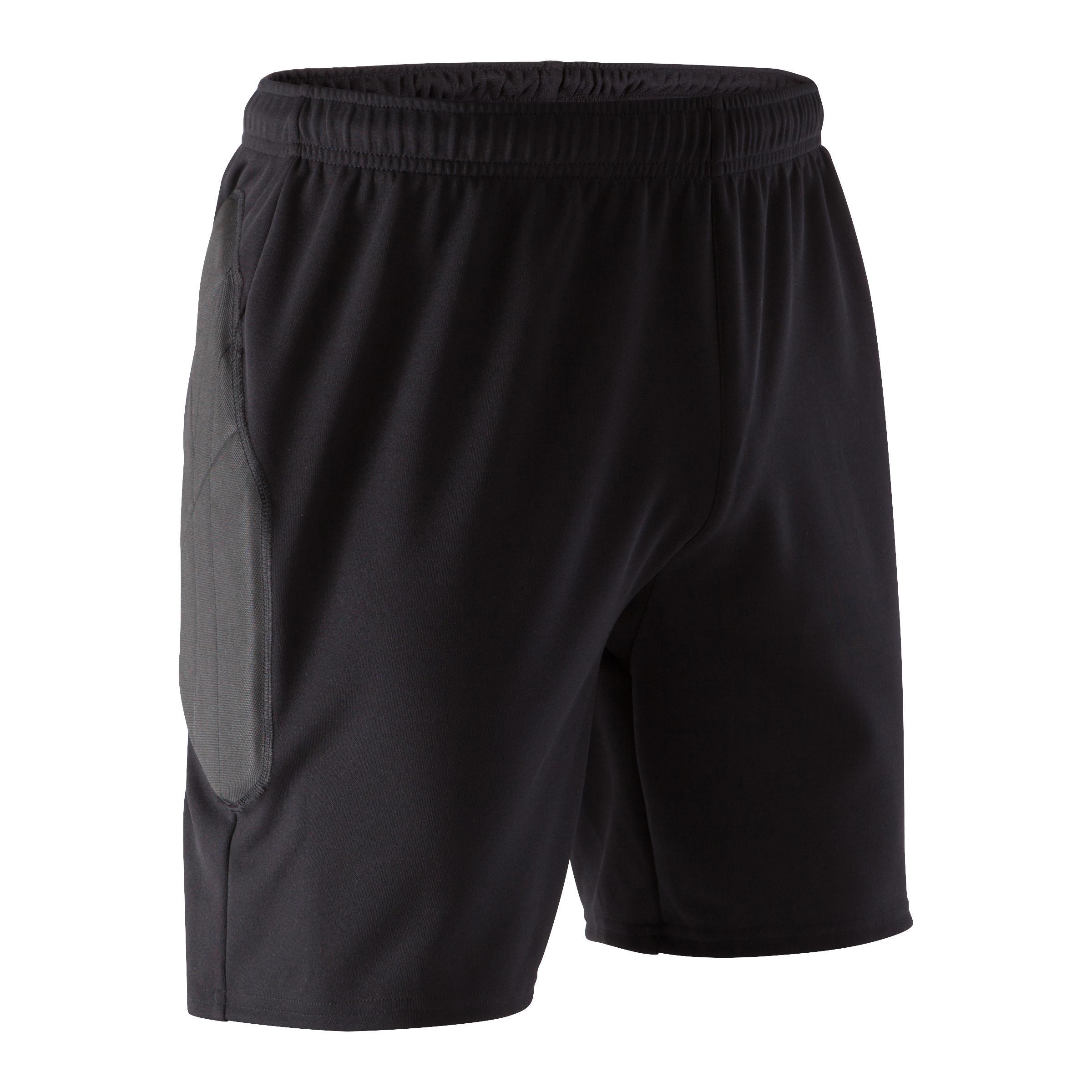 Torwarthose kurz F100 Erwachsene schwarz | Sportbekleidung > Sporthosen | Kipsta