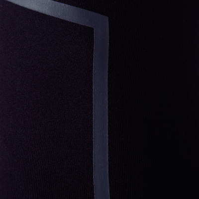 טייץ אוורירי למבוגרים Keepdry 100 - שחור עם מחזירי אור בשוקיים