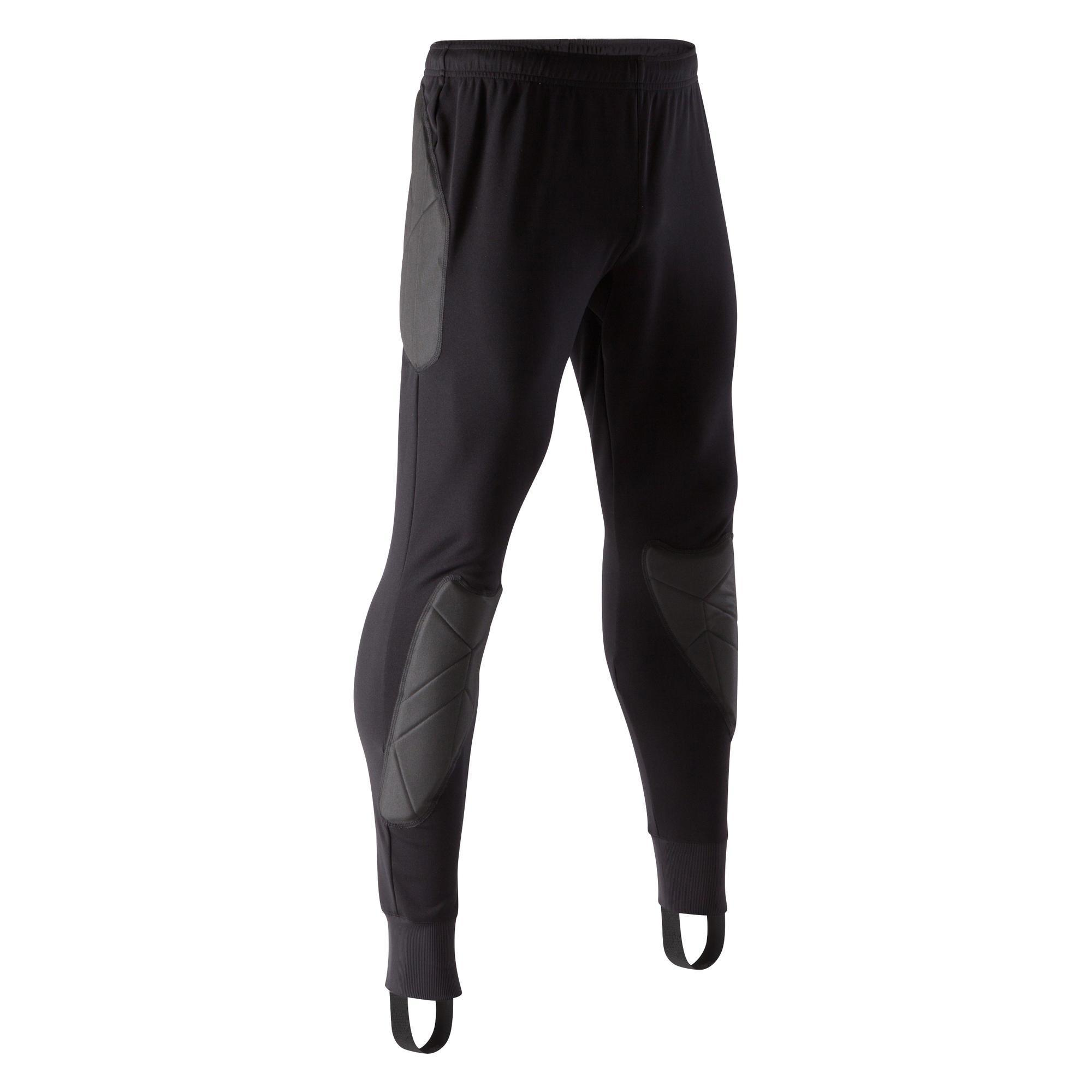Torwarthose lang F100 Erwachsene schwarz   Sportbekleidung > Sporthosen > Fahrradhosen   Kipsta