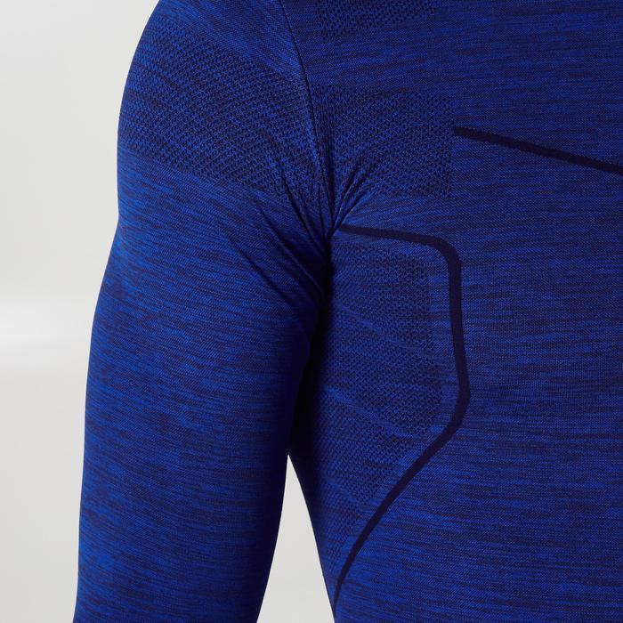 Funktionsshirt langarm Keepdry 500 Erwachsene dunkelblau-meliert