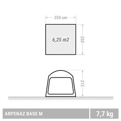 តង់បោះជំរុំ Arpenaz base ទំហំ M | មនុស្ស 8 នាក់