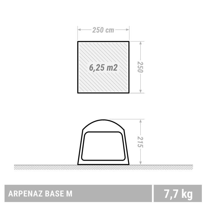 Aufenthaltszelt Base Arpenaz mit Gestänge Größe M für 6 Personen