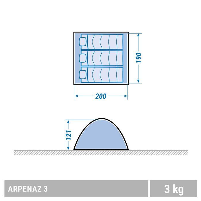 Tente de camping ARPENAZ | 3 personnes verte - 1355442