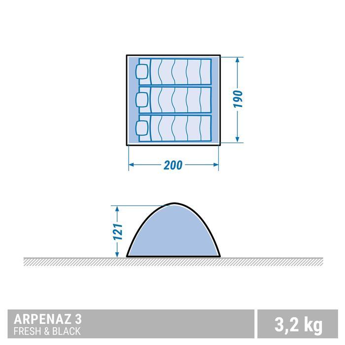 Tente de camping ARPENAZ 3 FRESH&BLACK | 3 personnes blanche - 1355450