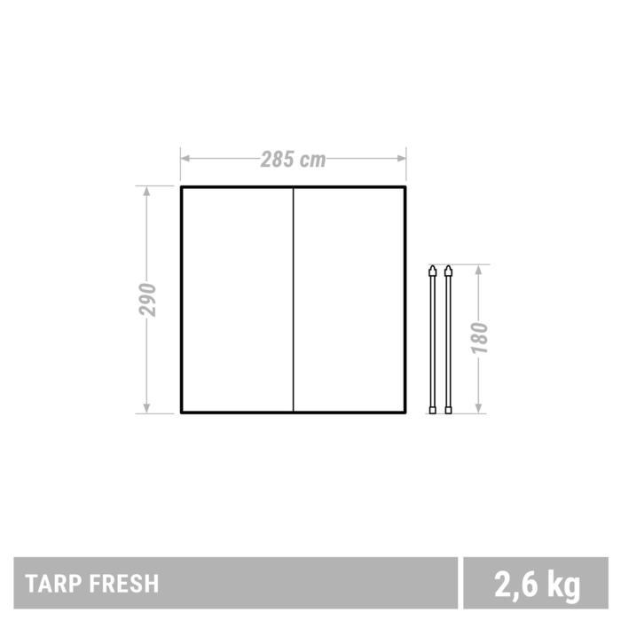 Multifunctionele tarp Fresh wit | 9 m²