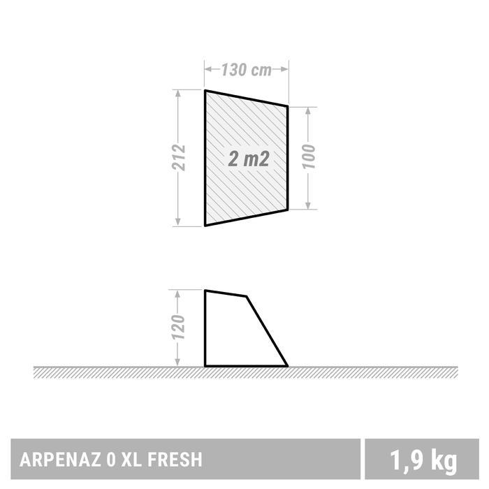 ABRI À ARCEAUX DE CAMPING ET RANDONNÉE - ARPENAZ COMPACT FRESH - 2 ADULTES