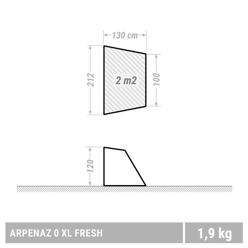BUDKI, PLEDY DO TURYSTYKI KRAJOZNAWCZEJ Kemping - Budka Arpenaz Compact Fresh XL QUECHUA - Namioty