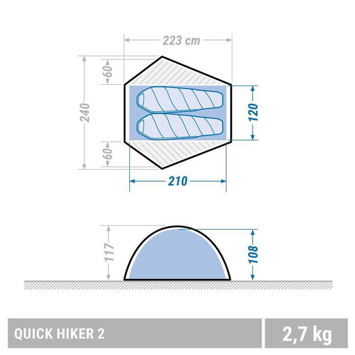 Tente de trek Quick Hiker 2 personnes verte - 1355463