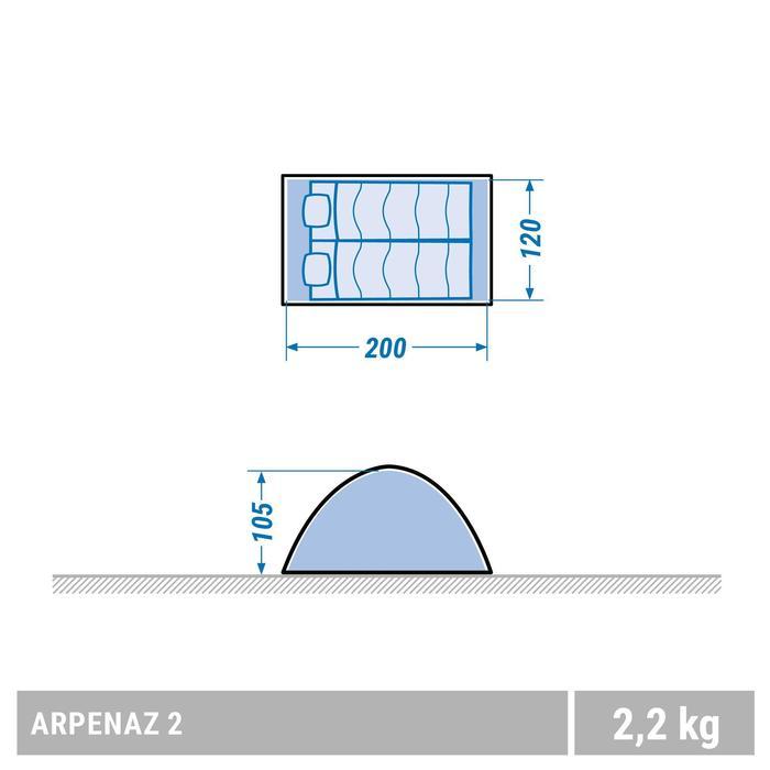 Tente de camping ARPENAZ | 2 personnes verte - 1355466