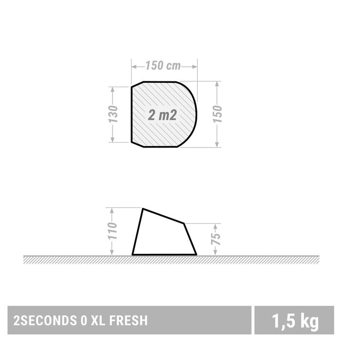 Schutzzelt 2Seconds 0 XL Fresh LSF50 weiß