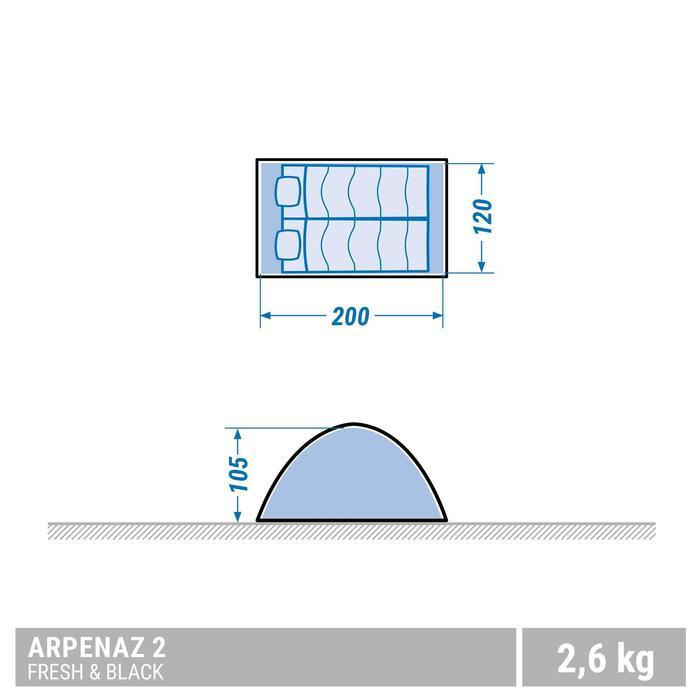 Tente de camping ARPENAZ 2 FRESH&BLACK | 2 personnes blanche - 1355475