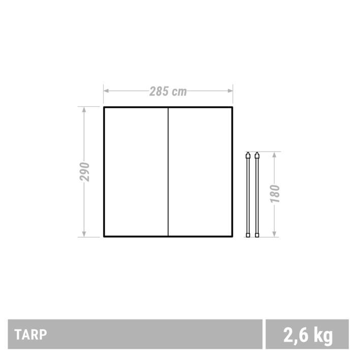Tarp Abri Camping Multifonction Kaki | 9m²