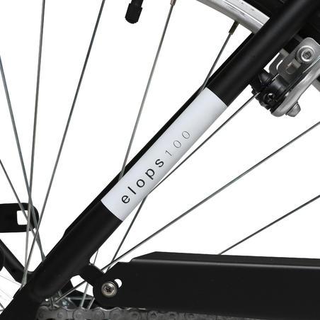 Elops 100 Low Frame City Bike Black