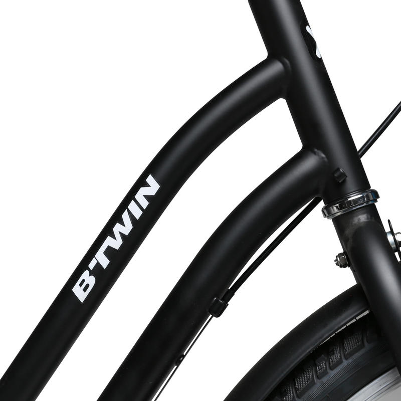 จักรยานซิตี้ไบค์รุ่น ELOPS 100 (สีดำ)