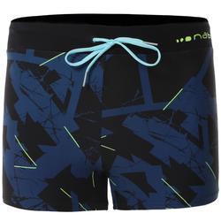 男款四角泳褲100 PEP - ALLDRY深藍色