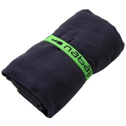 Compact microfibre towel size L 80 x 130 cm dark blue