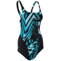 Kamiye Women's One-Piece Swimsuit with Clip-On Pads - Digi Blue