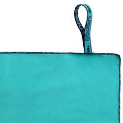 Serviette de bain microfibre bleu taille M 65 x 90 cm