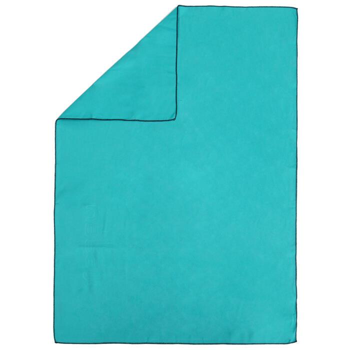 Toalla de microfibra azul ultracompacta talla M 65 x 90 cm
