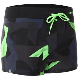 100 PEP MEN'S BOXER SWIM SHORTS - ALL BLOCK GREEN