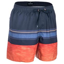 Heren boardshort Mix N'Stripes oranje