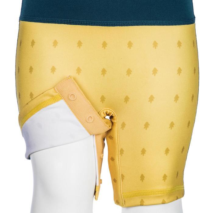 tee shirt anti UV shorty surf manches courtes bébé bleu jaune