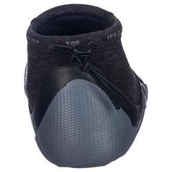 Escarpines sin suela caña baja Surf 500 Neopreno 2 mm gris negro