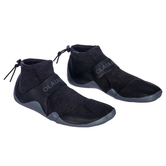 2 mm氯丁橡膠(neoprene)低筒衝浪靴500-灰色/黑色