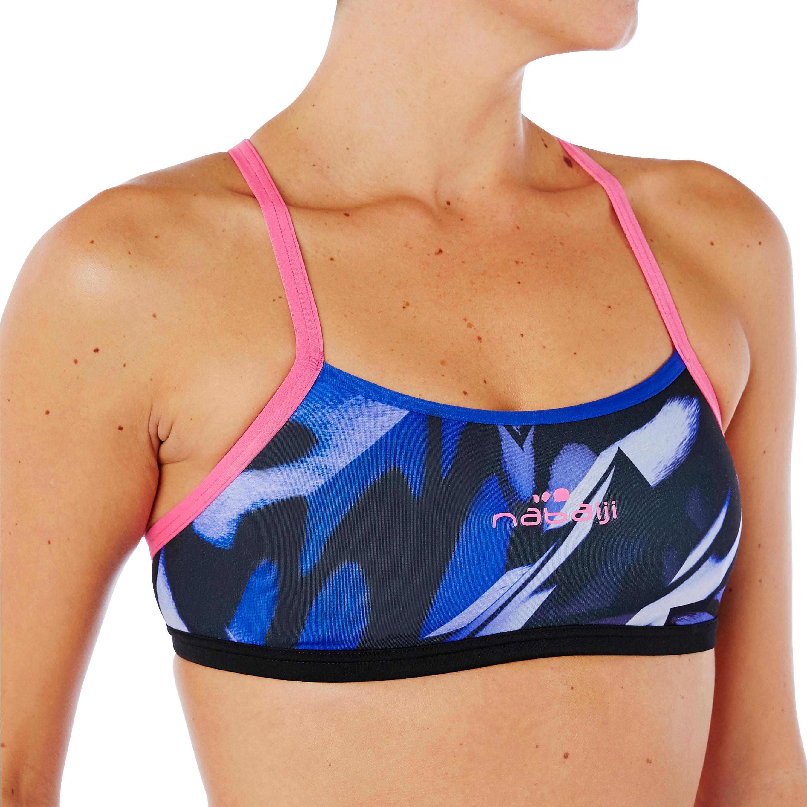 Brassière de natation femme ultra résistante au chlore Jade rose