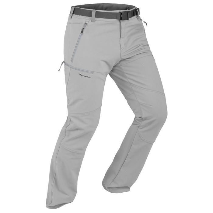 SH500 Men's x-warm stretch black snow hiking trousers. - 1356519