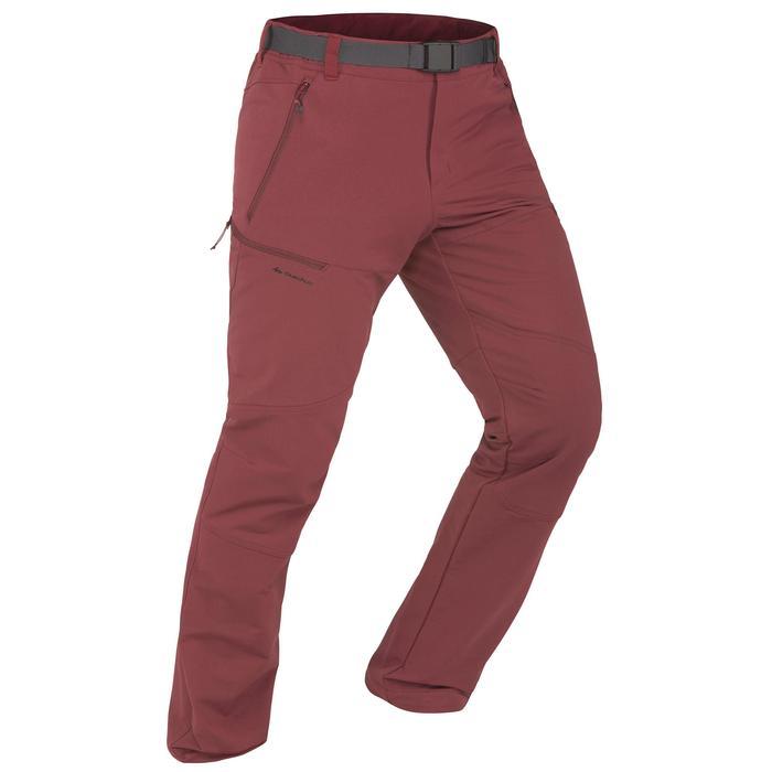 SH500 Men's x-warm stretch black snow hiking trousers. - 1356522