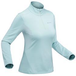 Tee-shirt de randonnée neige manches longues femme SH500 warm