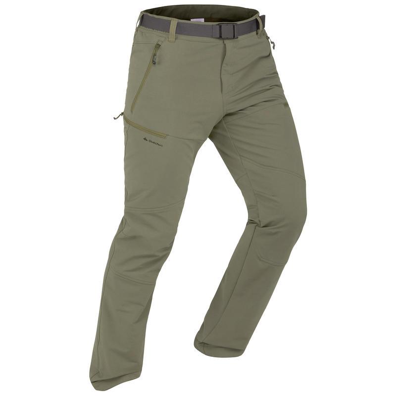 Pantalon de randonnée neige homme SH500 x-warm extensible kaki.