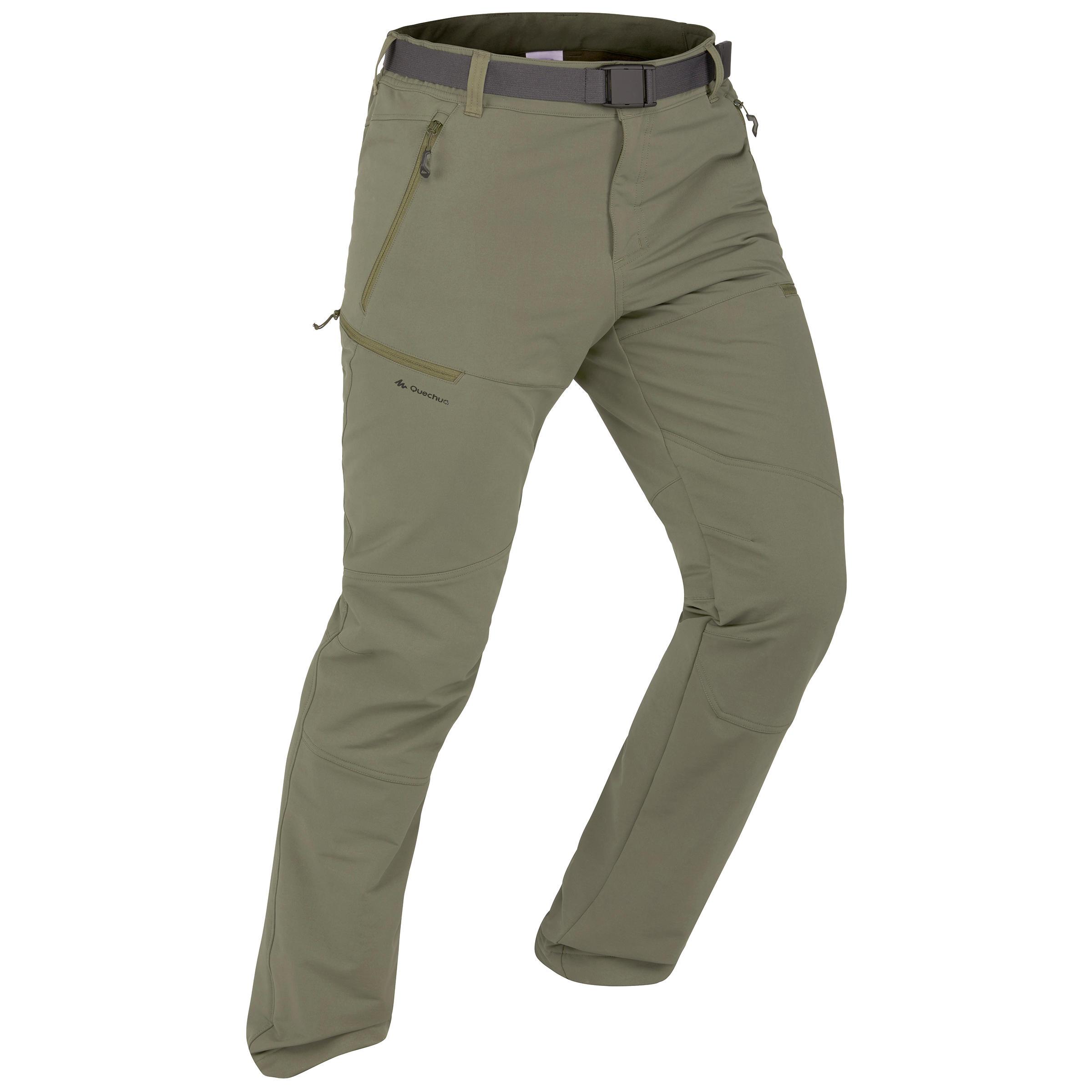Softshellhose Winterwandern SH500 X-Warm Herren khaki | Sportbekleidung > Sporthosen > Softshellhosen | Quechua