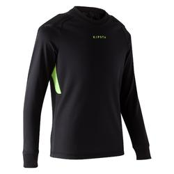 Camiseta de portero de fútbol F100 júnior negro