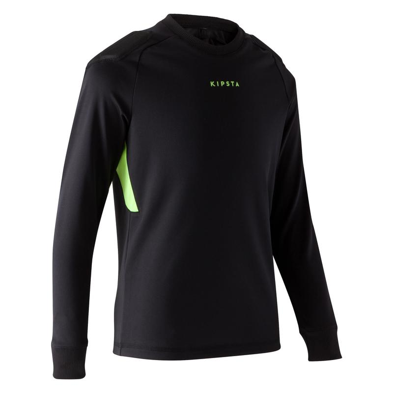 F100 Kids' Football Goalkeeper Shirt - Black