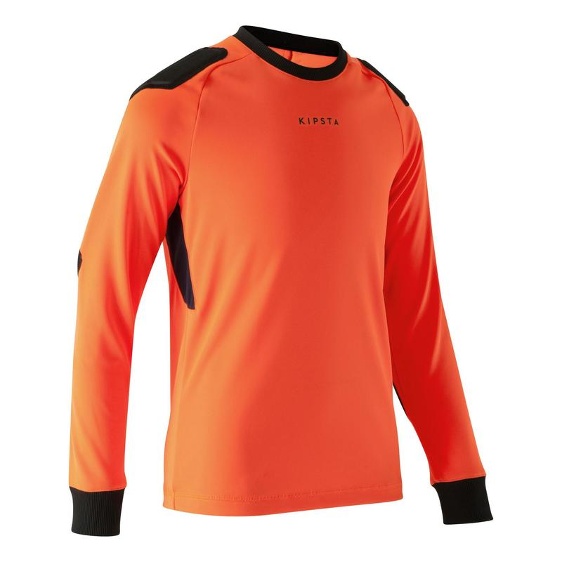 Bluză Portar fotbal F100 portocaliu Copii