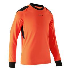 Camisola de Guarda-redes Futebol Criança F100 Laranja