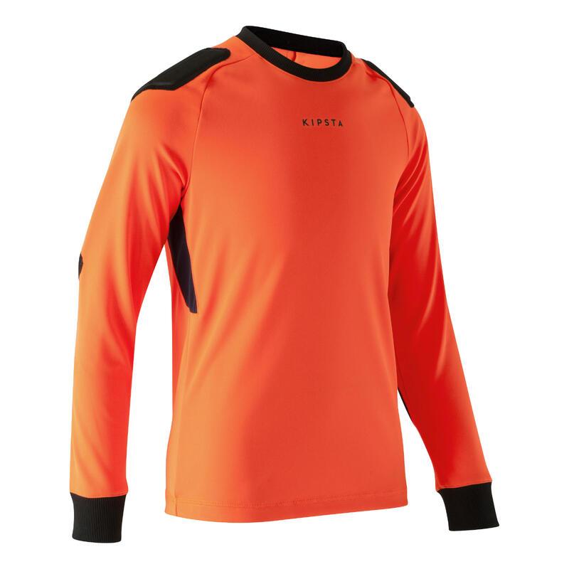 Camiseta Portero Kipsta F100 niños naranja