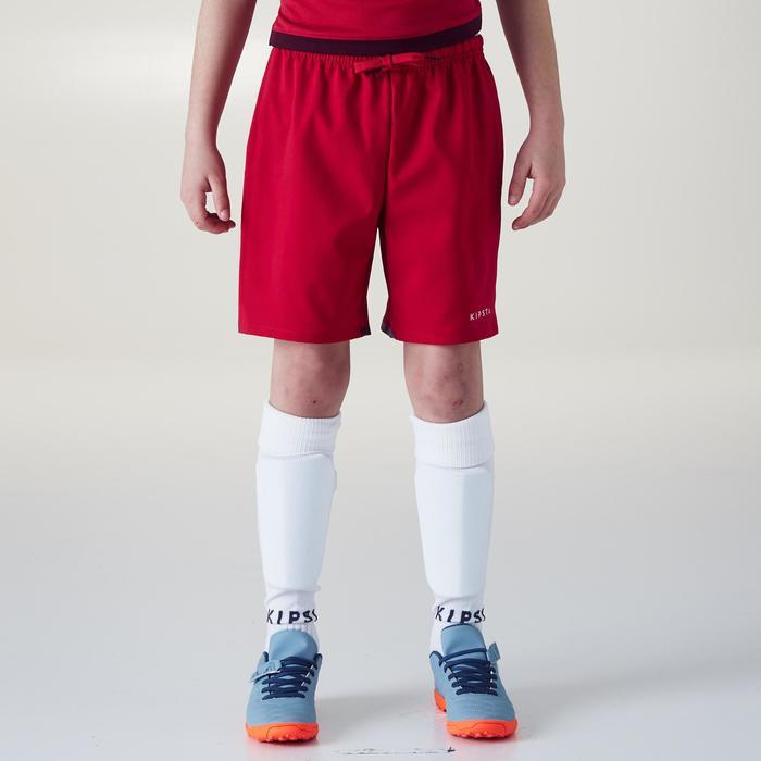Short de football F500 fille rose - 1356602