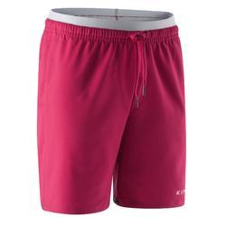 Pantalón corto de fútbol F500 niña rosa