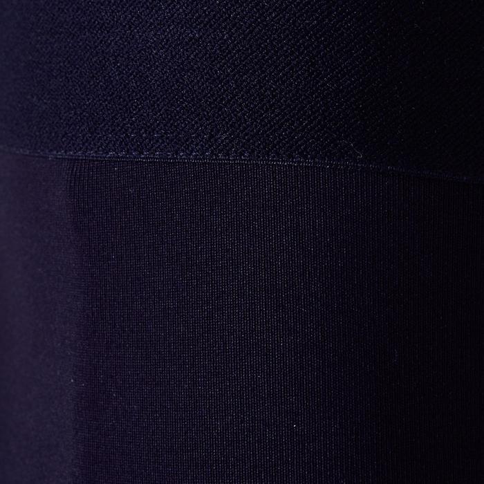 Ademende tight voor kinderen Keepdry 100 zwart, streep op de kuit