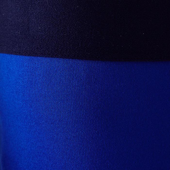 Ademende tight voor kinderen Keepdry 100 felblauw, motief met streep